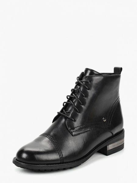 Кожаные ботинки на каблуке высокие Alessio Nesca