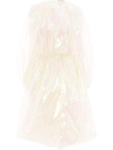 Платье миди с длинными рукавами - белое Jw Anderson
