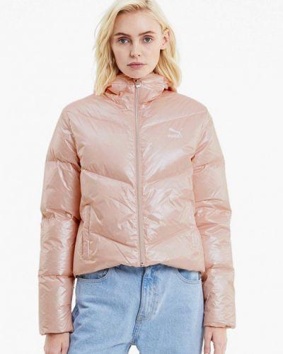 Розовая теплая куртка Puma