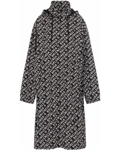 Czarny płaszcz przeciwdeszczowy Balenciaga
