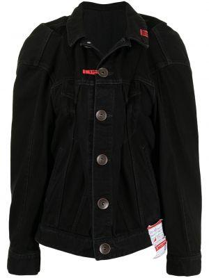 Черная джинсовая куртка с воротником с карманами Maison Mihara Yasuhiro