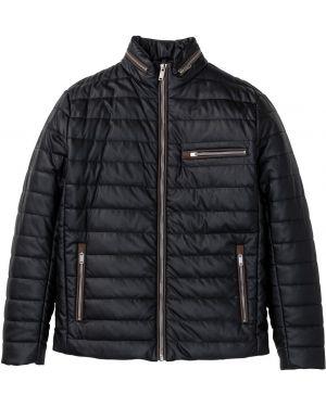 Кожаная куртка на молнии Bonprix