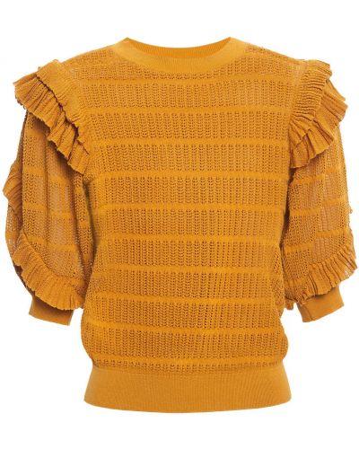 Хлопковый топ - желтый Ulla Johnson