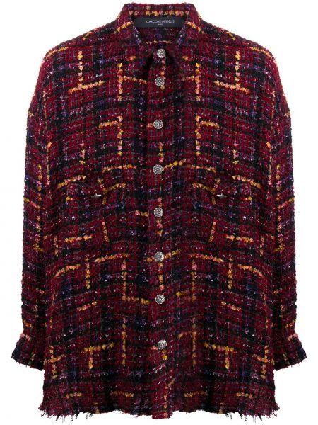 Czerwona klasyczna koszula bawełniana z długimi rękawami Garçons Infideles