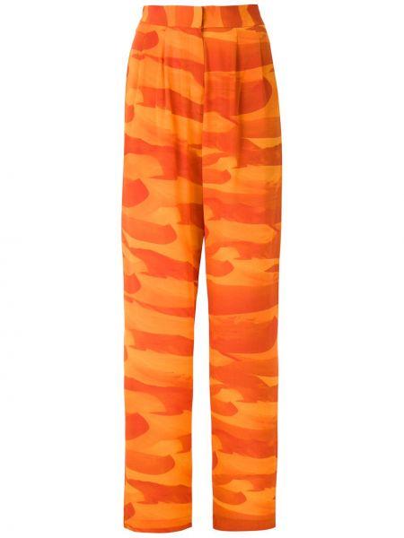 С завышенной талией оранжевые брюки с карманами Andrea Marques