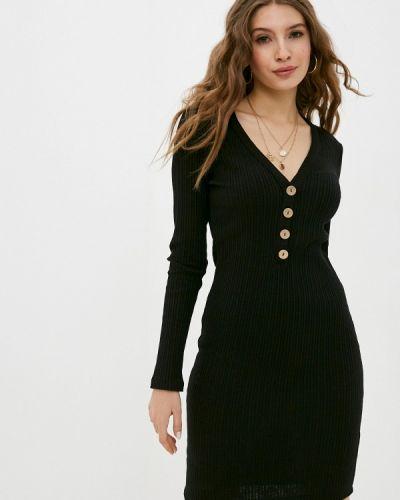 Прямое черное платье Sublevel