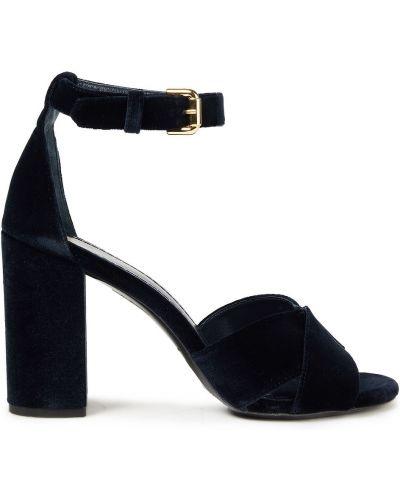 Кожаные сандалии - черные Maje