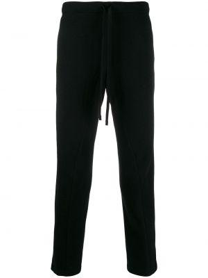 Шерстяные черные брюки с поясом на молнии Forme D'expression