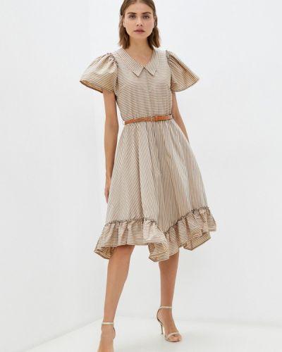 Прямое платье - бежевое Rinascimento