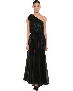 Платье с поясом на одно плечо с пайетками Msgm