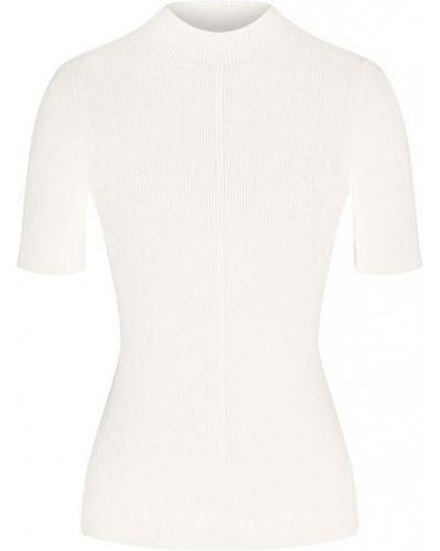 Тонкий трикотажный белый пуловер Oscar De La Renta