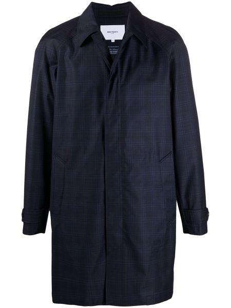 Długa kurtka niebieska z guzikami Norse Projects