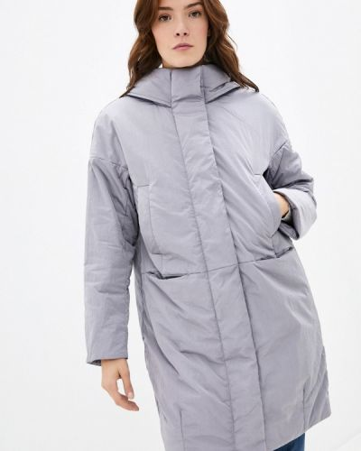 Расклешенная серая теплая свободная утепленная куртка Finn Flare