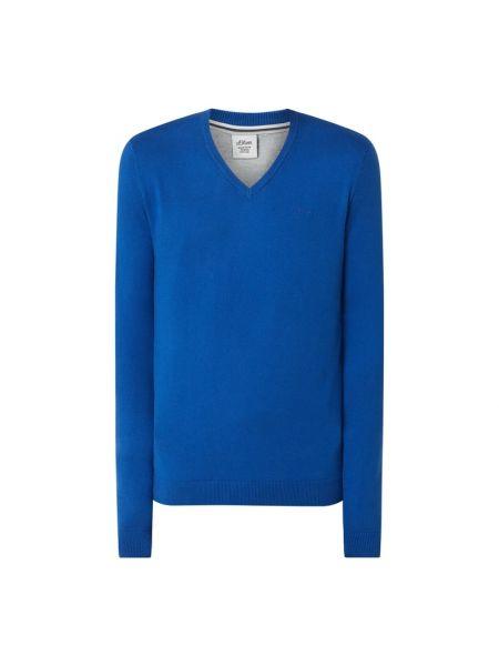 Z kaszmiru sweter - turkusowy S.oliver Red Label