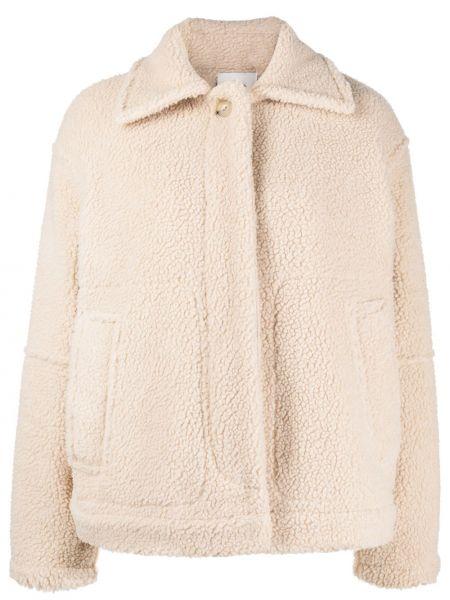 Куртка из овчины с воротником на пуговицах Vince