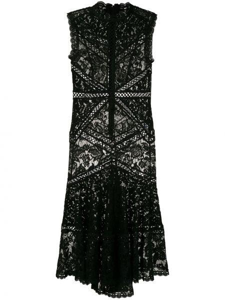 Расклешенное приталенное платье миди с воротником на молнии Martha Medeiros
