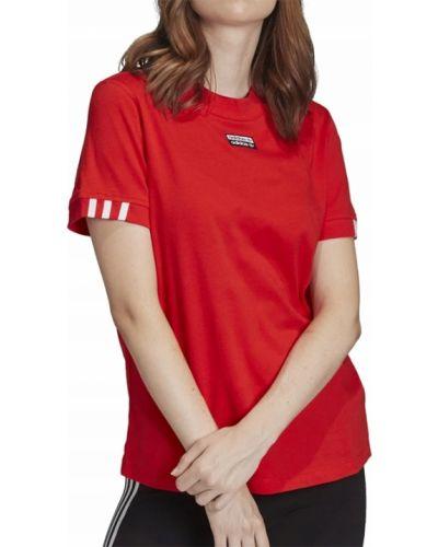 Bawełna czerwony bawełna t-shirt Adidas