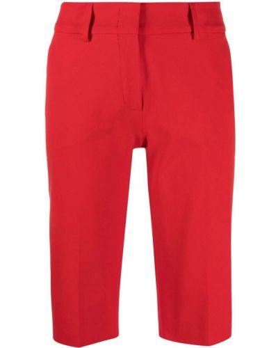 Хлопковые красные шорты на крючках Piazza Sempione