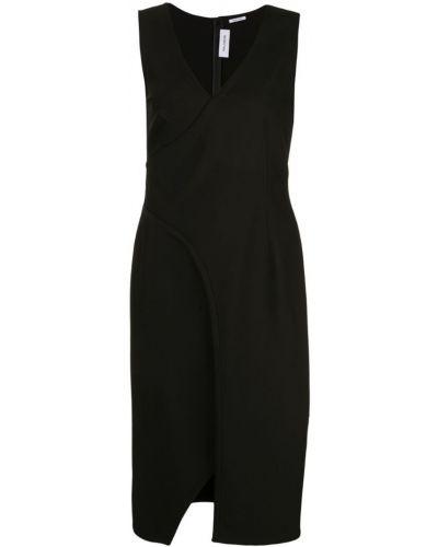 Приталенное платье миди - черное Yigal AzrouËl