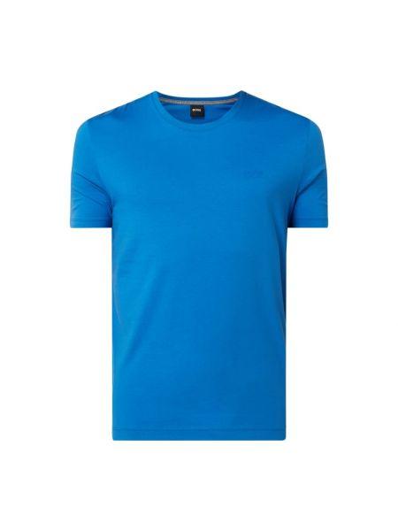 Bawełna niebieski koszula z dekoltem okrągły Boss