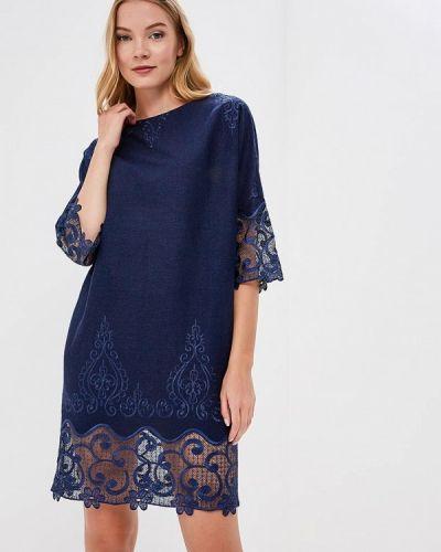 Платье весеннее синее Lautus