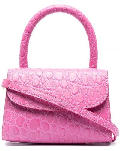 Кожаная сумка - розовая By Far