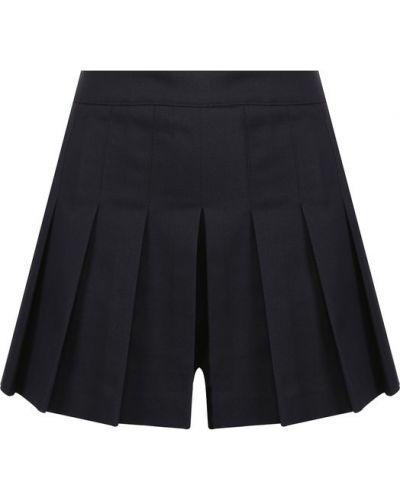 Короткие шорты в складку хлопковые Redvalentino
