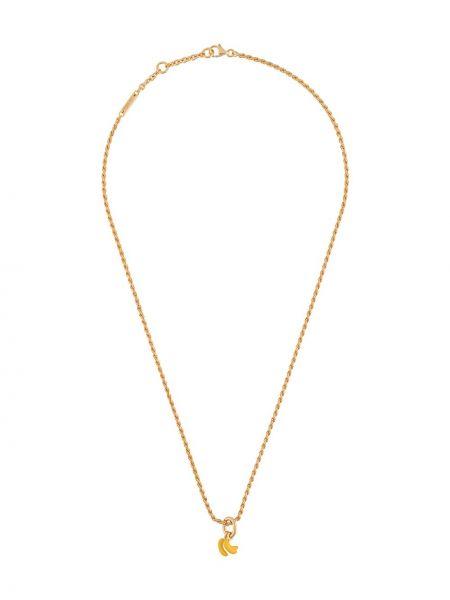 Золотистое ожерелье золотое Bottega Veneta
