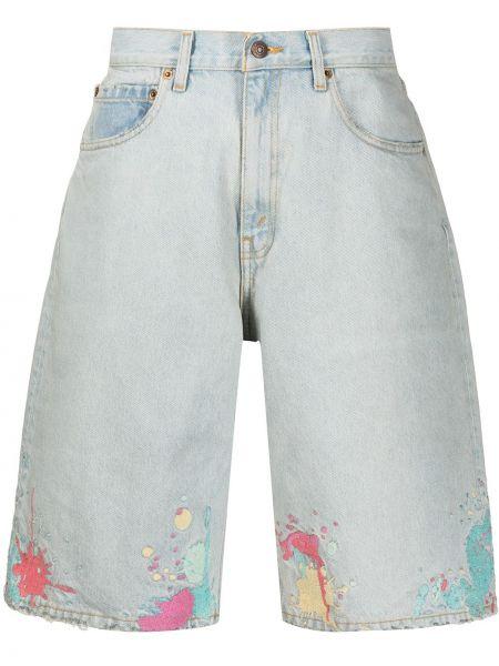 Хлопковые синие шорты с вышивкой Levi's®  Made & Crafted™