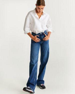 Широкие джинсы синие Mango