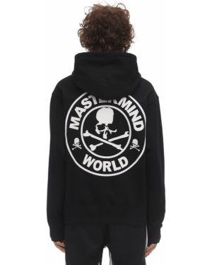 Czarna bluza z kapturem bawełniana Mastermind World