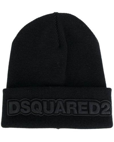 Шапка с вышивкой хлопковая Dsquared2