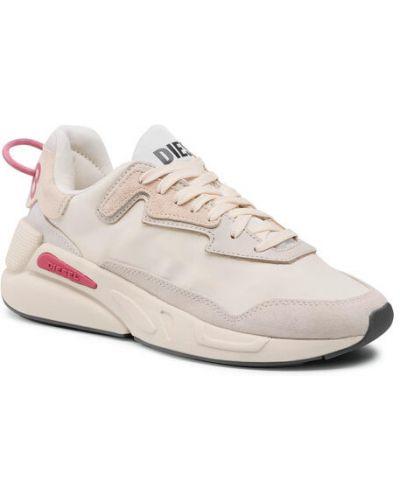 Beżowe sneakersy Diesel