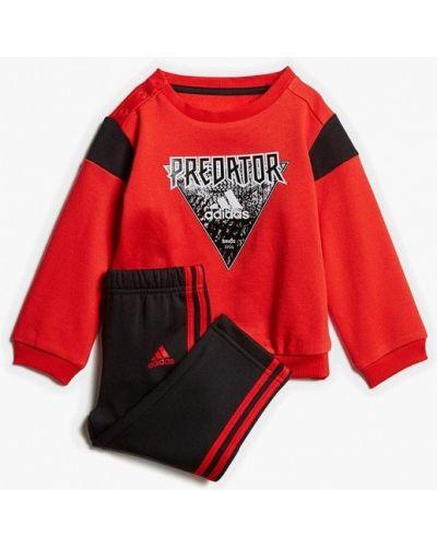 Красный спортивный костюм Adidas