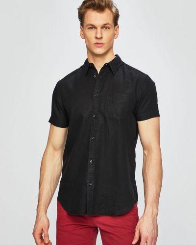 Рубашка с короткими рукавами черная тонкая Wrangler