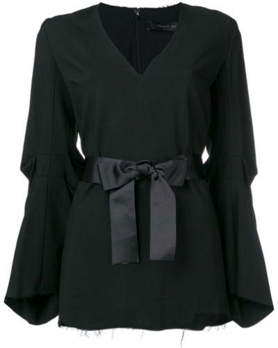 Блузка с длинным рукавом с поясом в рубчик Federica Tosi