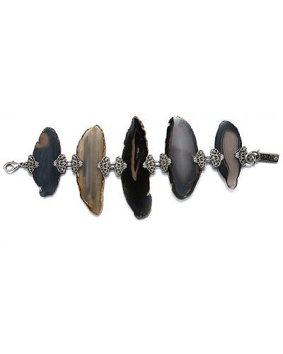 Черный браслет с агатом Amaro