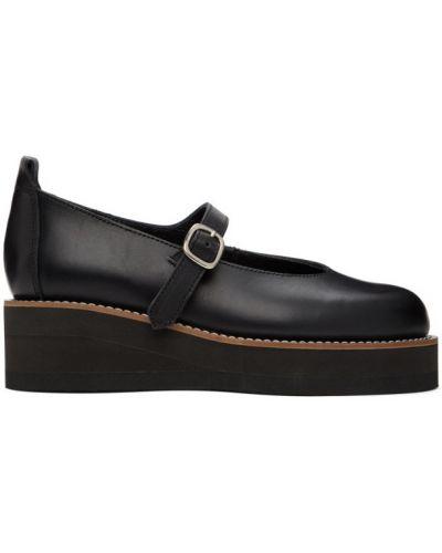Черные оксфорды на каблуке на платформе Y`s