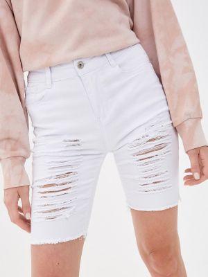 Белые джинсовые шорты G&g