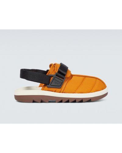 Оранжевые резиновые сандалии Reebok