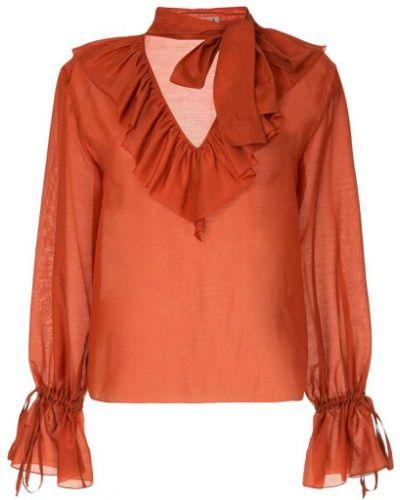 Блузка с длинным рукавом с завязками прямая Flow The Label