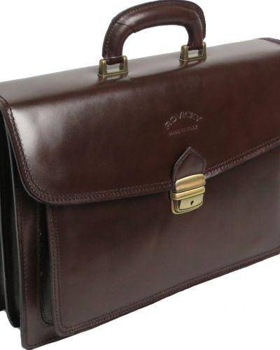 Кожаный портфель - коричневый Rovicky