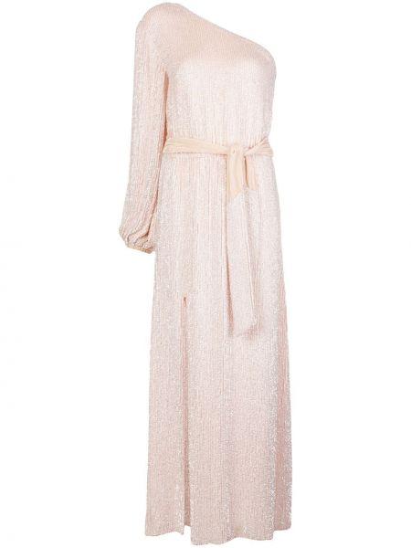 Платье макси розовое на одно плечо Retrofete