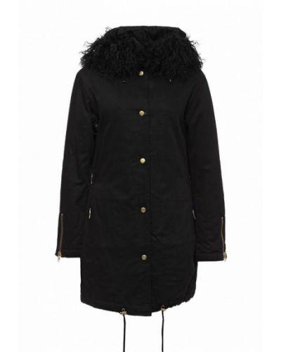 Черная утепленная куртка Kookai