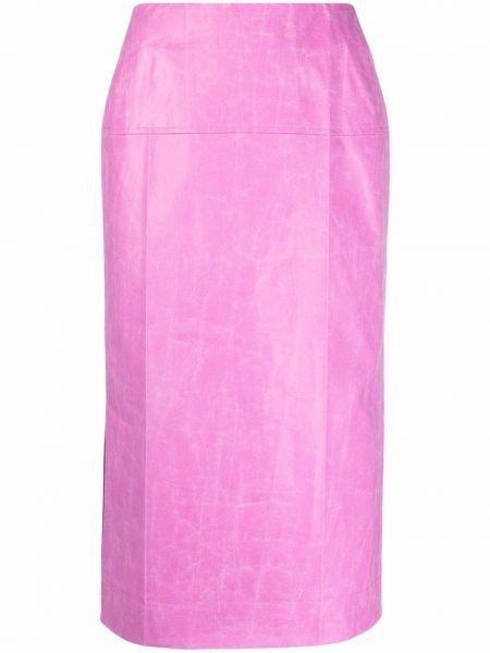 Хлопковая юбка миди - розовая Rejina Pyo