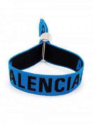 Niebieska bransoletka srebrna Balenciaga