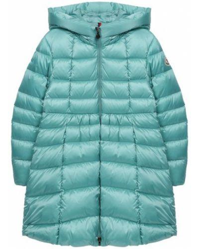 Пальто пуховое зеленый Moncler Enfant