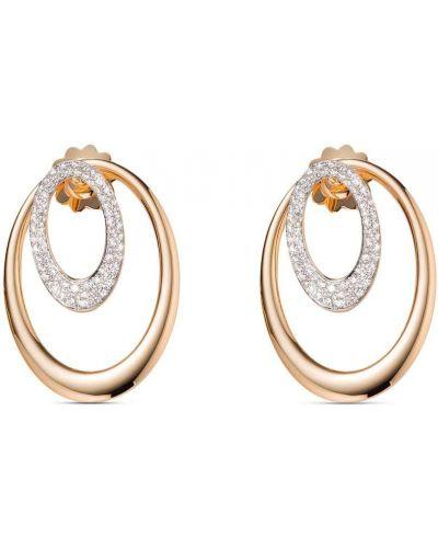 Różowe złote kolczyki sztyfty z diamentem Mattioli