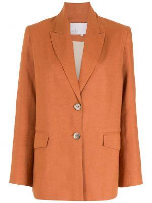 Оранжевый однобортный удлиненный пиджак на пуговицах Nk