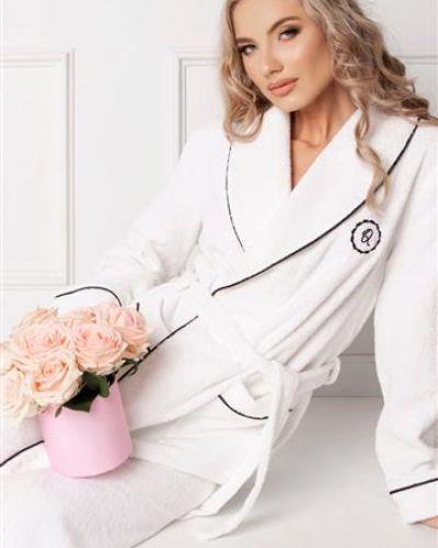Szlafrok elegancki - biały Aruelle